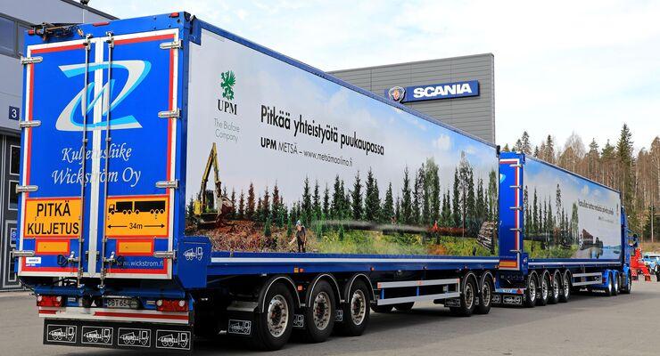 34 Meter lange Scania R730-Kombination