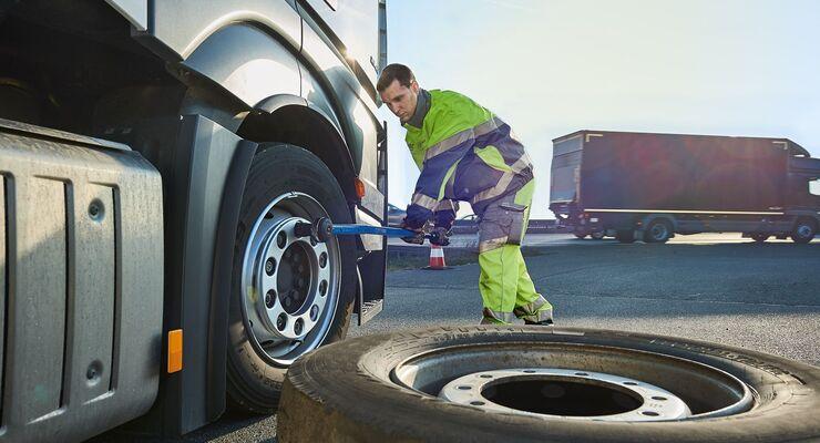 ADAC Truck Service Pannenhilfe, Reifen