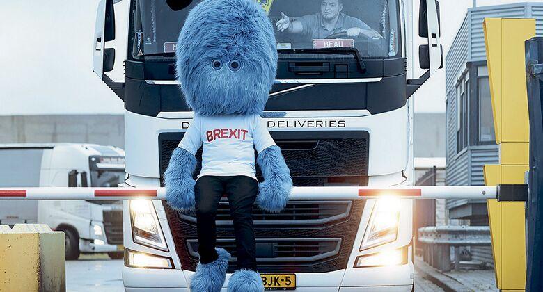 Blaues Brexit-Monster in den Niederlanden