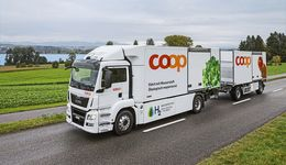 Brennstoffzellen-Lkw bei Coop