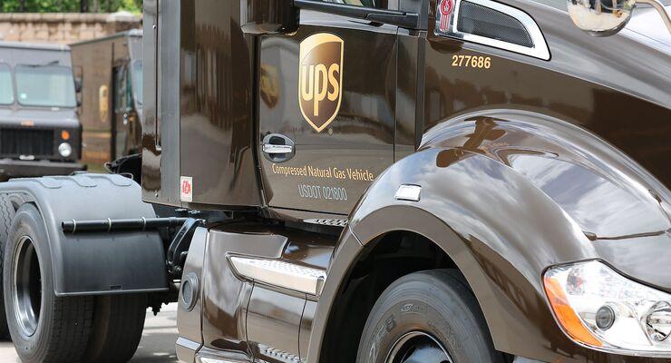 CNG-Fahrzeug von UPS in den USA