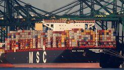 Containerschiff, schiff, msc, Diana, hafen, antwerpen