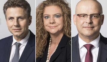DB-Vorstände: Alexander Doll, Sabina Jeschke und Martin Seiler.