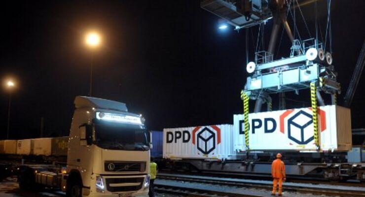 DPD schickt Pakete auf die Schiene