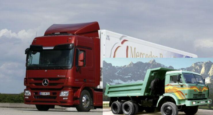 Daimler und Kamaz schmieden Pläne
