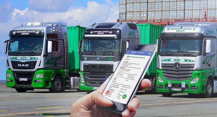 Der e-Frachtbrief von cargo support bei EKB Container Logistik