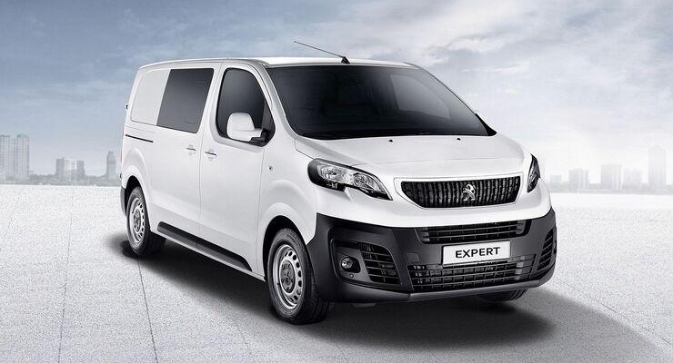 Der französische Fahrzeugbauer Peugeot erweitert die Modellpallette des neuen Expert um eine Variante mit Doppelkabine.