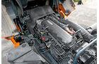 Der neue DAF XF, Euro-6-Reihensechser, Motorblock, VTG-Lader
