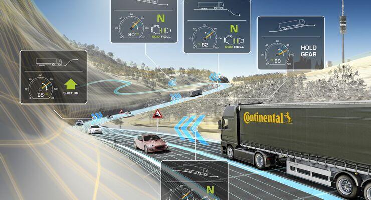 Dynamischer eHorizon Continental vernetzes Fahren