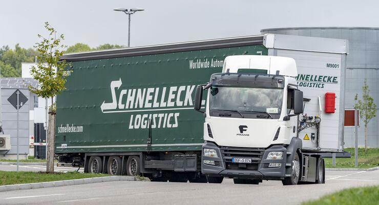 E-Lkw, BMW, Landshut, Framo, Schnellecke
