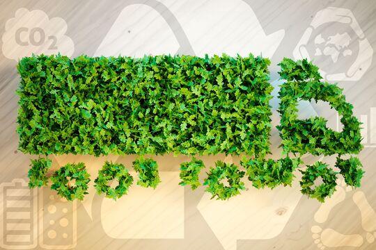 Ecology logistics concept.