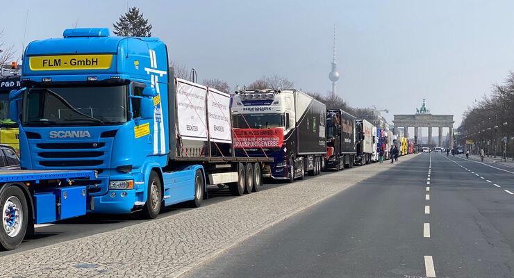 Fahrer-Demo in Berlin am 25.3.2021