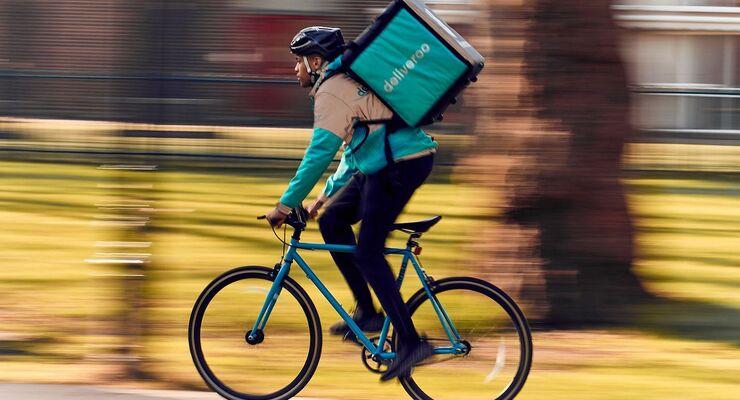 Fahrradkurier von Deliveroo