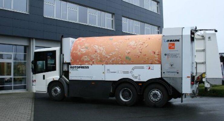Faun-Abfallsammler mit Brennstoffzellen-Antrieb