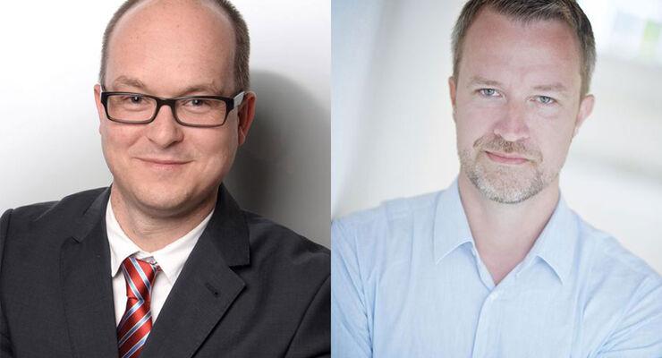 Felix Bossmeyer und Tom Krützfeldt leiten gemeinsam seit 1. März 2017 das Hoyer-Kombi-Terminal Schkopau (KTSK).