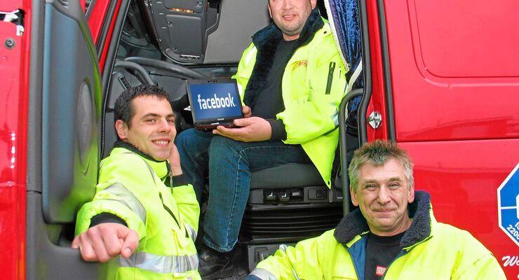 Fernfahrer, Facebook, Umfrage