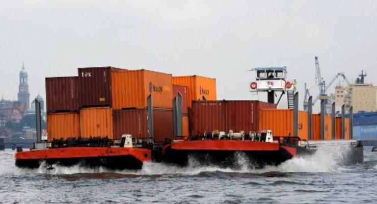 Hamburger Hafen: Rekord bei Binnenschifffahrt