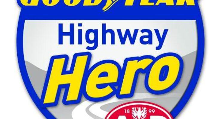 Held der Straße rettet Fahrer