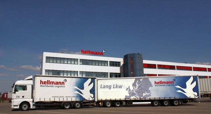 Hellmann Worldwide Logistics Lang-Lkw