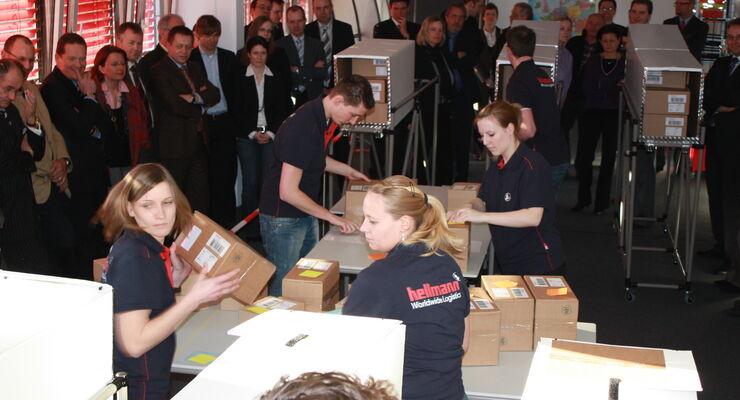 Hellmann öffnet Modell-Logistikcenter
