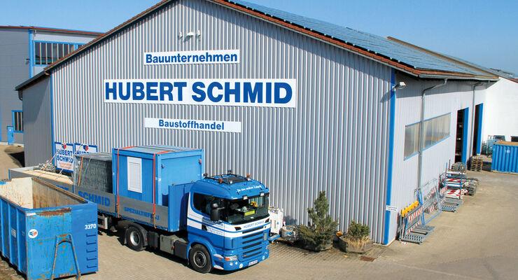 Hubert Schmid Gruppe, Bauunternehmen, Baustoffhandel