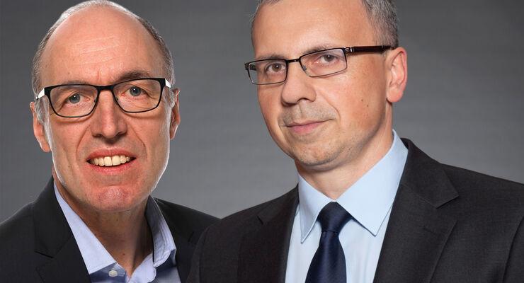 Im DB Cargo-Vorstand: Pierre Timmermans (links) und Marek Staszek.