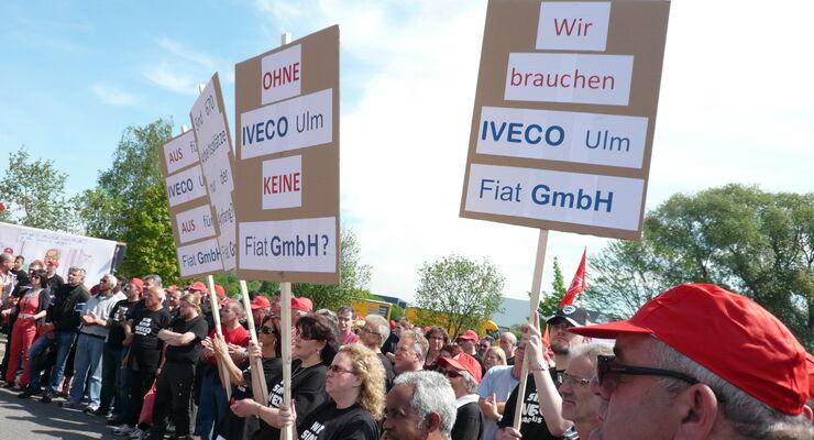Iveco, Mitarbeiter, Protest