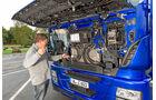 Iveco Stralis AS440S44, Ölpeilstab, Ölstandcheck, Frontklappe