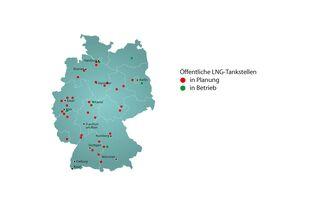 tankstellen in deutschland karte LNG Tankstellen: Deutschlandkarte von Dena zeigt Standorte