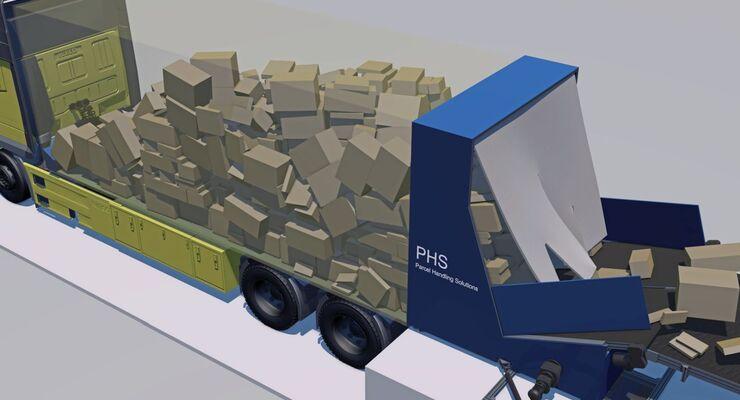 Lkw-Entladeteppich von PHS