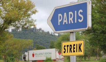 Lkw-Fahrer in Frankreich streiken