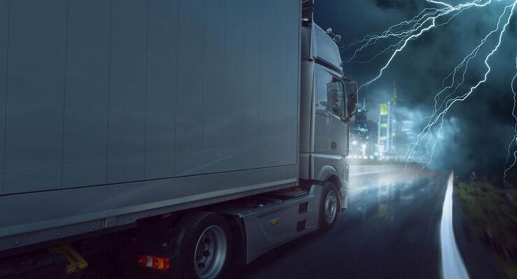 Lkw-Gewitter, Gewitter, Blitz. Innovationsprogramm, Logistik