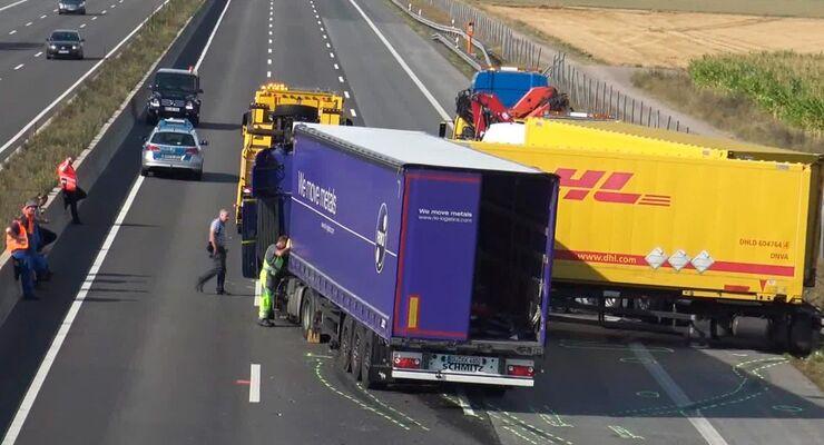 Lkw, Unfälle, Autobahn, Stauende