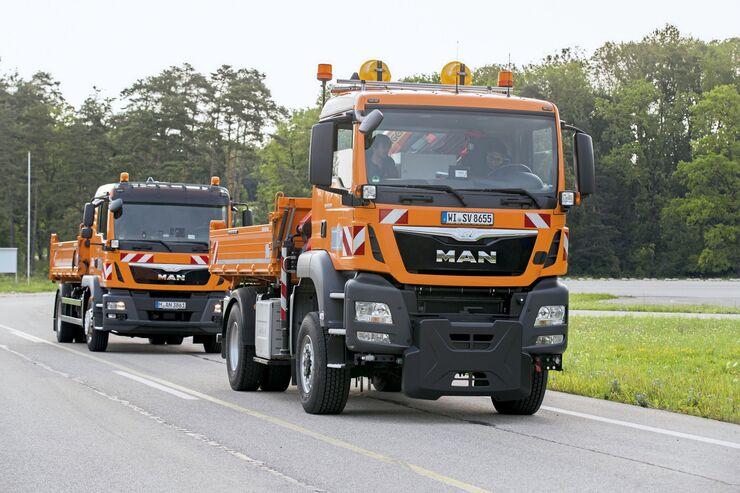 MAN aFAS TGM Automatisierung automatisiert autonom Erprobung Test Feldversuch Autobahn Absicherung Absicherungsfahrzeug Hessen