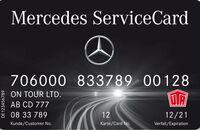 Mercedes Servicecard Tankkarte