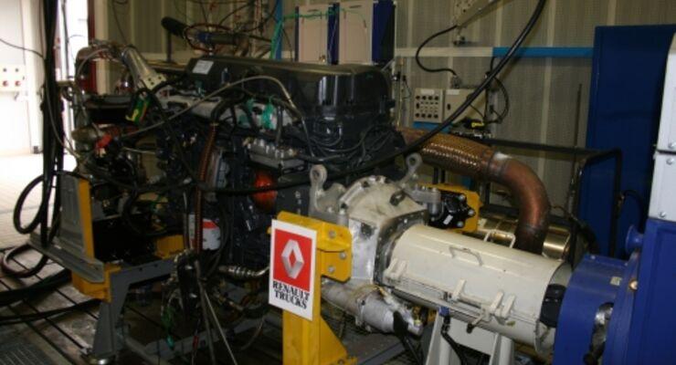 Motorenprüfstand von Renault Trucks