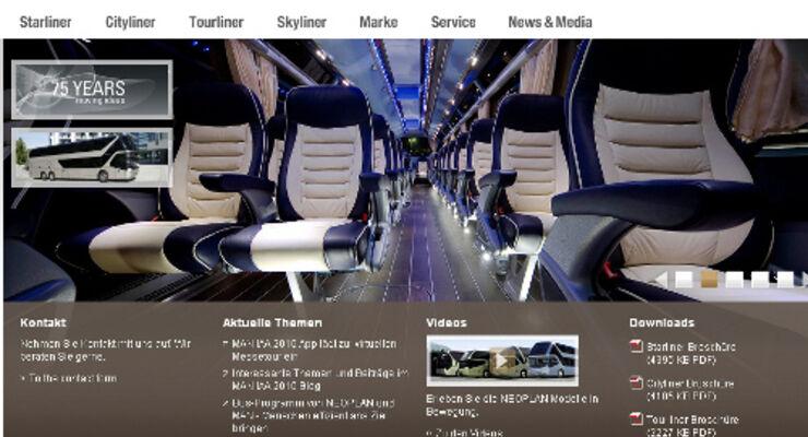 Neoplan frischt seine Internetseite auf
