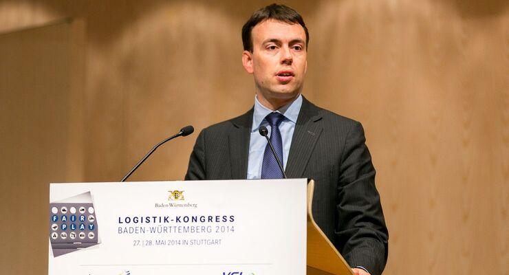 Nils Schmid, Wirtschaftsminister, Baden-Württemberg, Logistik-Kongress 2014