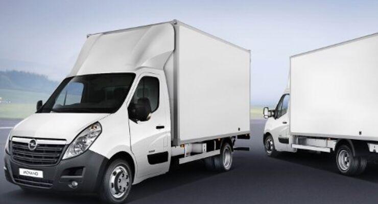 Opel Movano auch als Fahrgestell zu haben