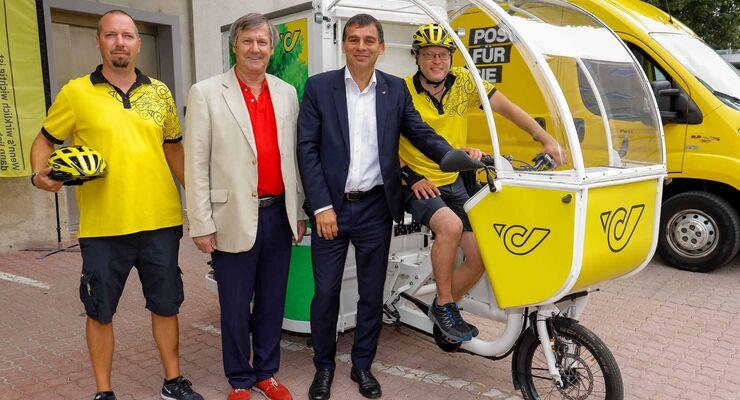 """Pilotprojekt """"City Hub Wien"""" im 3. Bezirk: Post testet neue Wege in der Zustellung"""