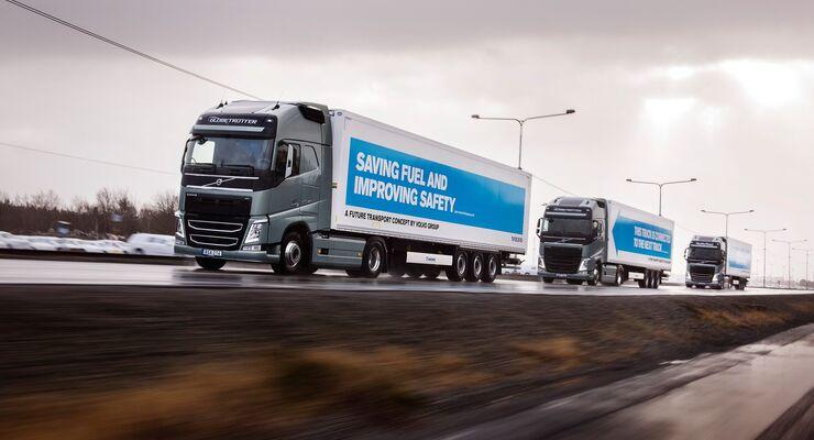 Platooning bei Volvo Trucks