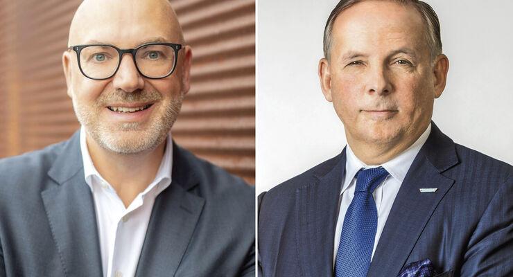 Prof. Dr. Raimund Klinkner (links) soll beim DVF den Posten von Dr. Jörg Mosolf übernehmen.