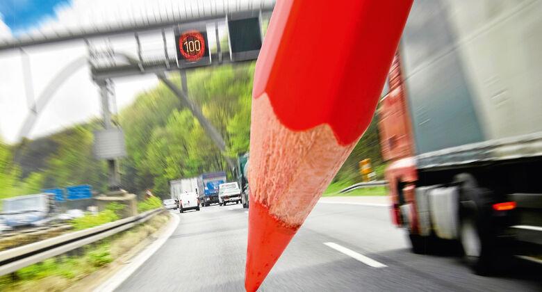 Rotstift bei der Autobahn angesetzt