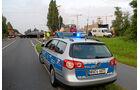 Schwertransporte Begleitung, Convoi, Exceptionnel, Polizei
