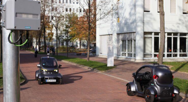Siemens-Campus München-Perlach wird Testfeld für autonomes Fahren / Siemens campus in Munich-Perlach to field-test autonomous driving