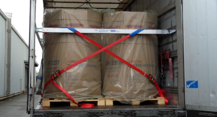 Silo-Behälter sicher laden