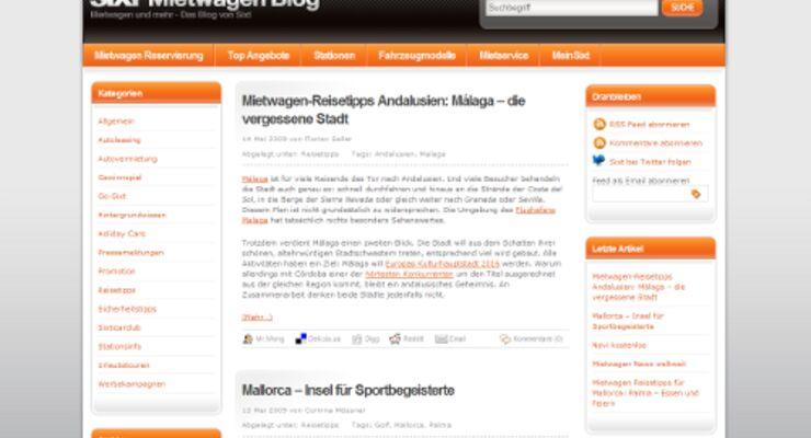 Sixt überarbeitet Weblog