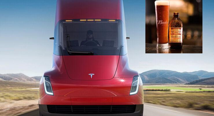 Tesla, Anheuser-Busch, Budweiser