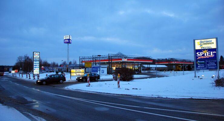 Truckstop, Autohof Salzbergen, A30, Außenansicht