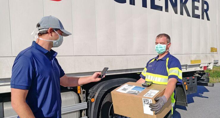 Unterschrift auf Distanz: DB Schenker in Graz entwickelt  No-Touch-Signatur fŸr WarenŸbergabe wŠhrend Corona